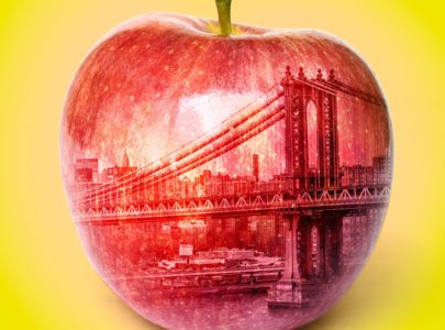 NYC Big Apple Illustration by Lisa Larson-Walker. Images by Thinkstock.