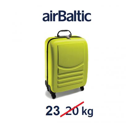 AirBaltic змінив норму багажу